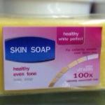 Skin SOAP healthy even tone สบู่หัวเชื้อวาสลีนสูตรเข้มข้น 100 เท่าขาวไว ไร้สิ่งต้องห้าม ขนาด 130 กรัม