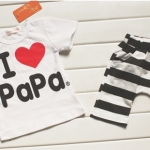 """เซทเสื้อ กางเกง """"I Love Papa"""" size 80"""