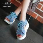 รองเท้าเพื่อสุขภาพพื้นรองเท้าใส่สบายทรงสวมรัดส้น กระชับเท้า ผูกเชือกด้านหน้าเท่มาก