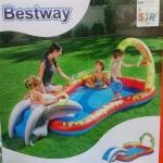 🏊สระว่ายน้ำลิง+ฉลามสไลเดอร์🐒🐵 (Splash and Play by BESTWAY)kxEH