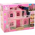บ้านกระต่าย Anbeiya house รุ่น 2 ชั้น สีชมพูหวานแหวว ส่งฟรี