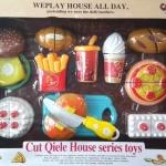 ของเล่นหั่นขนม ของหวาน cut qiele house series toys ส่งฟรี