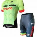 ชุดปั่นจักรยานแขนสั้นลายทีม CANNONDALE กางเกงเป้าเจล