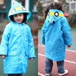 เสื้อกันฝนน่ารักสำหรับเด็กยี่ห้อ Linda ลายรถสีฟ้า