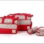 กระเป๋าสัมภาระคุณแม่เซท 4ใบ สีแดง