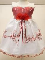 ชุดเด็กหญิงออกงานราตรีผ้าไหมแก้วปักลายแขนกุด สำหรับเด็ก4-5ปี