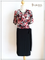 Love Dress Size 44 สีแดงปนดำ