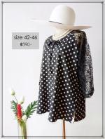 Polka Dot Blouse ลายจุด Size 42