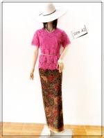 Lace Blouse Size 42 (สีบานเย็น)