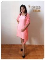 เดรสคลุมชีฟอง Chiffon Cover Dress (โอลโรส ชมพูอมส้ม)