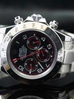 นาฬิกา Rolex Daytona Red หน้าปัดสีดำแดง สายเลสสีเงิน รุ่นดังตลอดกาล สวยขั้นเทพ
