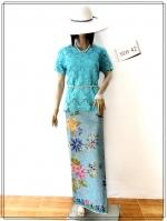 Lace Blouse Size 42 (สีฟ้า)