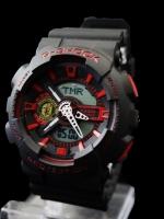 นาฬิกา G Shock AAA รุ่น Limited Edition แมนยู หน้าปัดดำแดง 2 ระบบ ใหม่ล่าสุด พร้อมกล่อง ส่งฟรี Ems