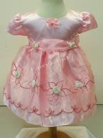 ชุดราตรีเด็กหญิงสีชมพูสำหรับเด็กเล็กเบบี้