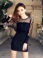 Long Sleeve Lace Blouse & Pencil Skirt Set