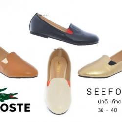 รองเท้าทรงโลเฟอร์ Style Lacoste วัสดุหนังนิ่ม