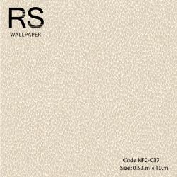 วอลเปเปอร์ลายเม็ดหินกรวดเล็กโทนสีขาวแกมทอง NF2-C37