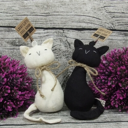ตุ๊กตาที่ทับกระดาษ หนีบกระดาษ แมวคู่รัก สีดำ