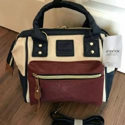"""กระเป๋าเป้หลัง Anello งาน pu ขนาด 9"""" (ทรูโทน)+(สีล้วน)"""