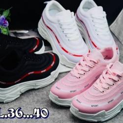 รองเท้าผ้าใบแฟชั่นทรง sport สไตล์ Nike พื้นหนานุ่มใส่กระชับเท้า