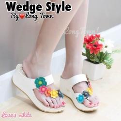 รองเท้าแฟชั่นสไตล์ fitflop แต่งดอกไม้หลายสีสวยงาม