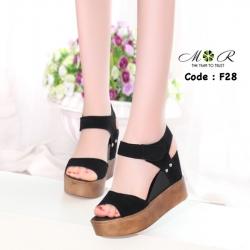 รองเท้าส้นเตารีดรัดส้น น้ำหนักเบา ทรงสวมรัดส้น ส้นสูงประมาณ 4 นิ้ว