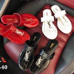 รองเท้าแตะหูคีบ style brand YSL หนังลายงูสวยมาก