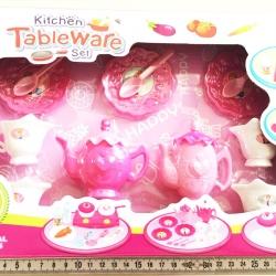 ชุดครัวชมพู+ชงชากล่อง 30.5 ซม. (1x3)