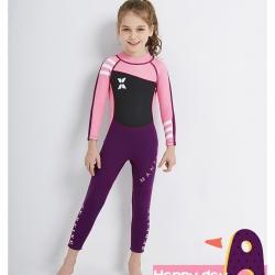 ชุดว่ายน้ำ เด็กผู้หญิง ชุดว่ายน้ำควบคุมอุณหภูมิ 2.5mm neoprene