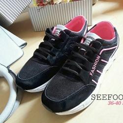 รองเท้าผ้าใบสไตล์ Sport fashion ด้านในบุนวมนิ่มใส่กระชับเท้า