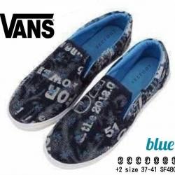 รองเท้าผ้าใบทรง Vans ผ้ายีนส์สุดชิคทรง slipon ถอดใส่ง่าย