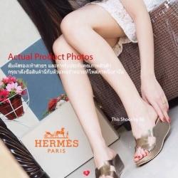 รองเทัา HERMES Sandals Style เสริมส้นสูงน้ำหนักเบา