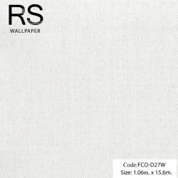 วอลเปเปอร์พื้นเรียบสีขาวมุกมีกิตเตอร์ FCO-D27W