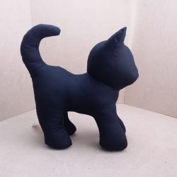 ตุ๊กตาแมวยืน Kitten Cat Softy Toy - BLACK