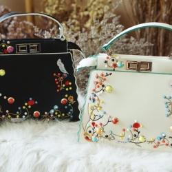 กระเป๋า Medium Peekaboo Embroidered Satchel bag