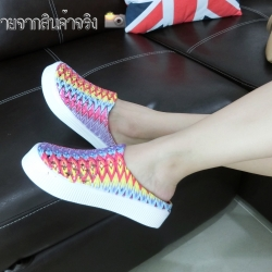 รองเท้าแตะสไตล์ CHIC&CHILL น่ารักงานสานสูง 1.5 นิ้ว