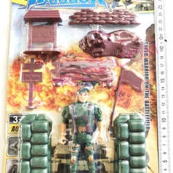 ทหารคอมมานโด+ป้อมแผงจัมโบ้ 30 ซม.