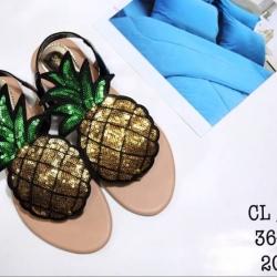 รองเท้าแตะแฟชั่นแต่งลายสับปะรด ไซส์ 36-40
