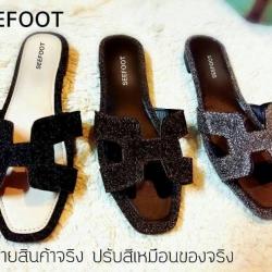 รองเท้าแตะ HERMES H logo classic sandals.