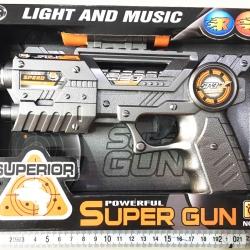 ปืนมีลำกล้อง มีเสียง มีไฟกล่อง 23 ซม. (ใส่ถ่าน 2A 3 ก้อน) (1x3)