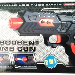 ปืนยิงกระสุนน้ำ 400 นัด+ลูกดอกกล่อง 21 ซม.(1x3)