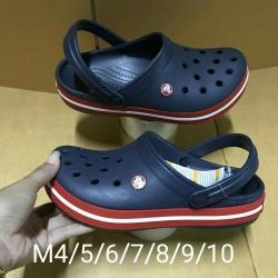รองเท้า CROCS รองเท้าลำลองผู้ใหญ่ Crocband สีกรมขอบแดง
