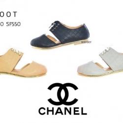 รองเท้าผ้าใบหุ้มข้อ แบรนด์ Chanel พื้นตีแบรนด์ Chanel