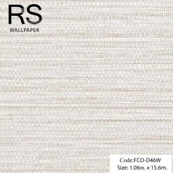 วอลเปเปอร์เทกเจอร์กระสอบพื้นสีขาวมุกแกมน้ำตาลอ่อน FCO-D46W