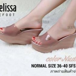 รองเท้า ส้นสูงแบบสวม STYLE MELISSA ซิลิโคนนิ่ม