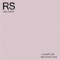 วอลเปเปอร์ลายเม็ดหินกรวดเล็กโทนสีม่วง NF2-C49