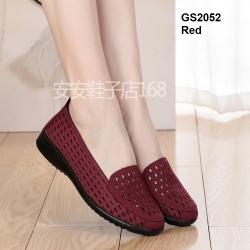 รองเท้าคัชชูผ้านิ่ม งานผ้าฉลุลายพื้นยางเพื่อสุขภาพ