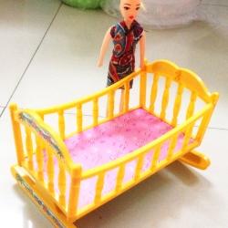 ตุ๊กตาบาร์บี้+เปลนอน 20 ซม.