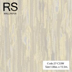 วอลเปเปอร์เทกเจอร์เป็นทางเส้นพื้นสีเทาอมเหลือง 27-C33W