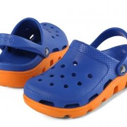 รองเท้า CROCS รุ่น DUET SPORT CLOG สีน้ำเงินพื้นส้ม